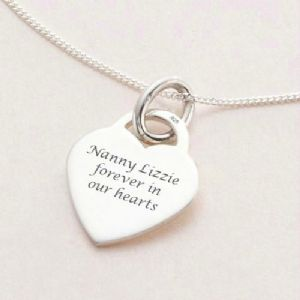Engraved Memorial Necklace
